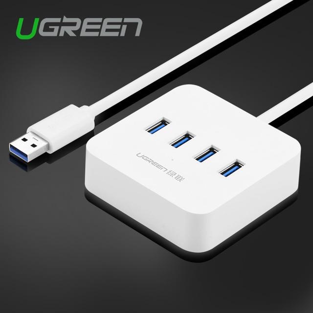 Ugreen usb 3.0 hub 4 puertos de alta velocidad de 5 gbps de 4 puertos hub Divisor Del USB con LED Indicador de La Lámpara para Windows Mac Linux PC Portátil