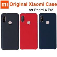 공식 xiao mi red mi 6 pro 케이스 커버 original red mi 6 pro 뒷면 커버/mi a2 lite capas coque 오리지널 레드 mi 6pro 케이스