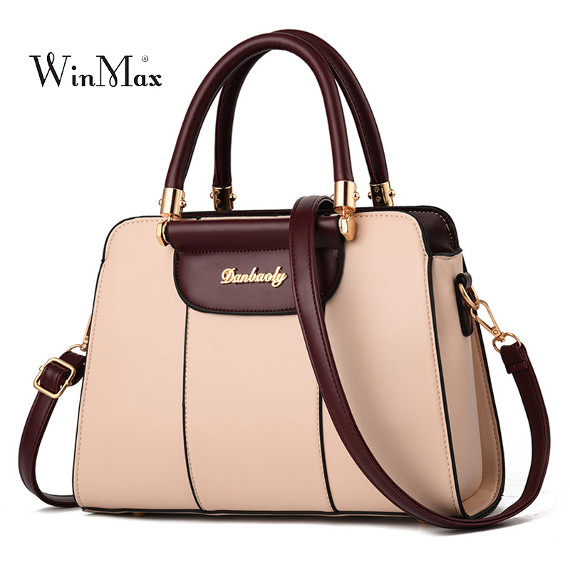 New Women Leather Handbag Luxury Shoulder Bag Designer Tote Bag Ladies Messenger Crossbody Bags For Women 2018 Bolsas Female Sac esufeir luxury women handbag patchwork genuine leather bags for women shoulder messenger bag ladies crossbody bag designer tote