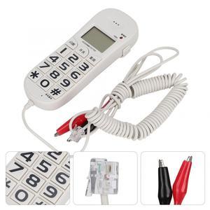 Image 5 - FSK/DTMF téléphone fixe avec identification dappel pour domicile bureau, téléphone filaire blanc