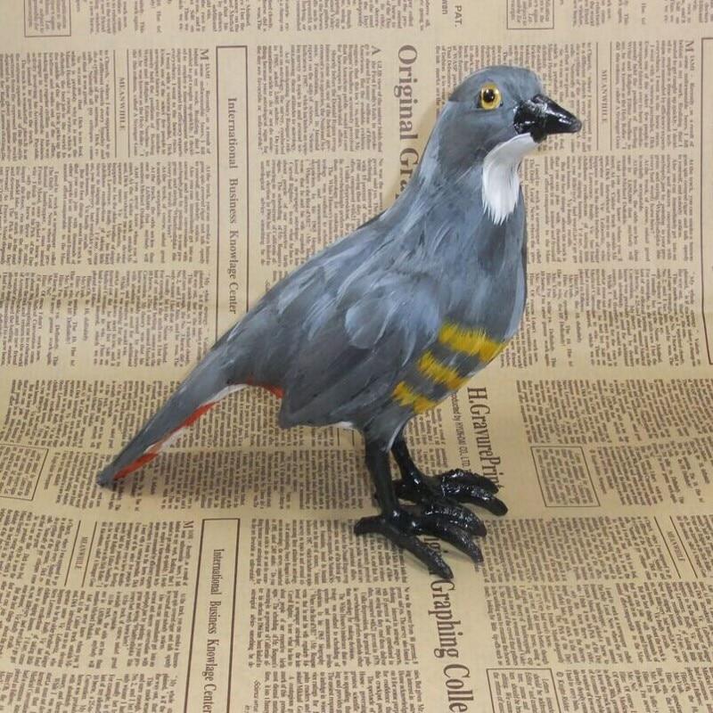 Simulace kukačka pták zvířecí model 22x18cm hračka polyethylen a kožešiny řemeslné výrobky, rekvizity, domácí dekorace dárek d0081