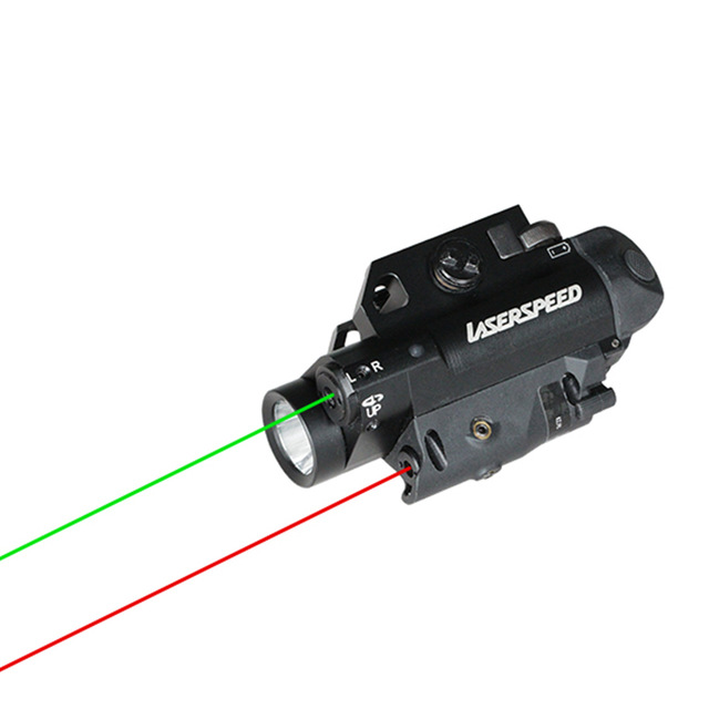 Acecare Drop shipping Acecare New design 3 in 1 weapon light integrated dual lasers guns and weapons for hunting in Riflescopes from Sports Entertainment