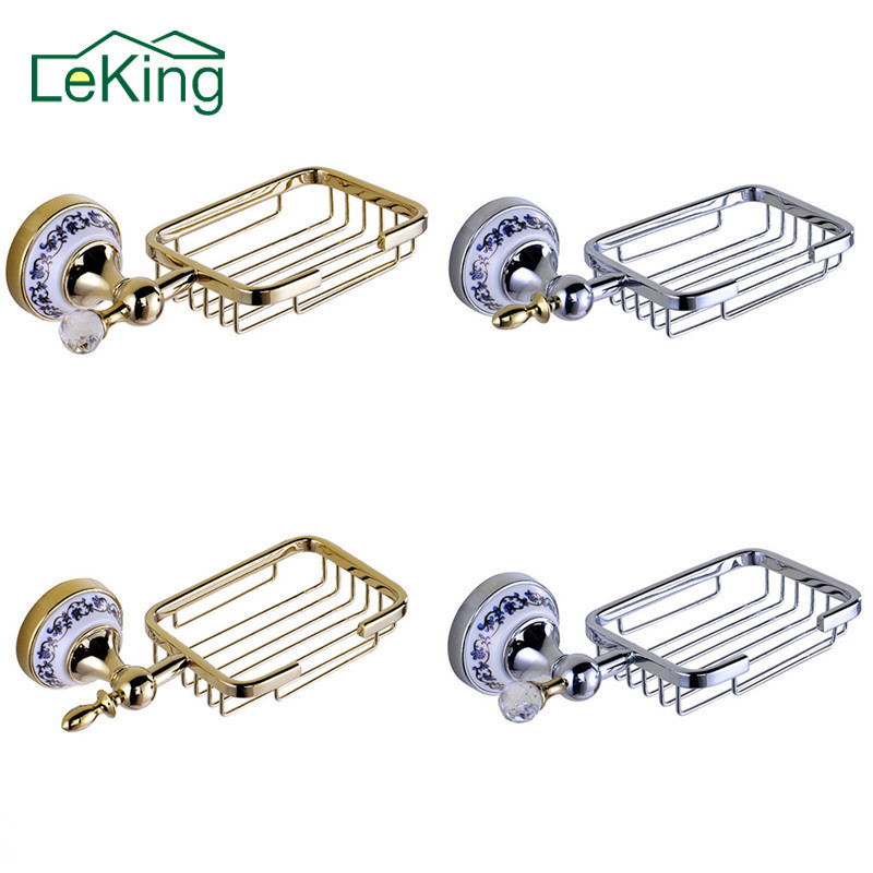 LeKing Antique Brass Ceramic Soap Holder Copper Soap Dishes Soap Basket Bathroom Accessories Bathroom Furniture Toilet Vanity-in Soap Dishes from Home Improvement on AliExpress
