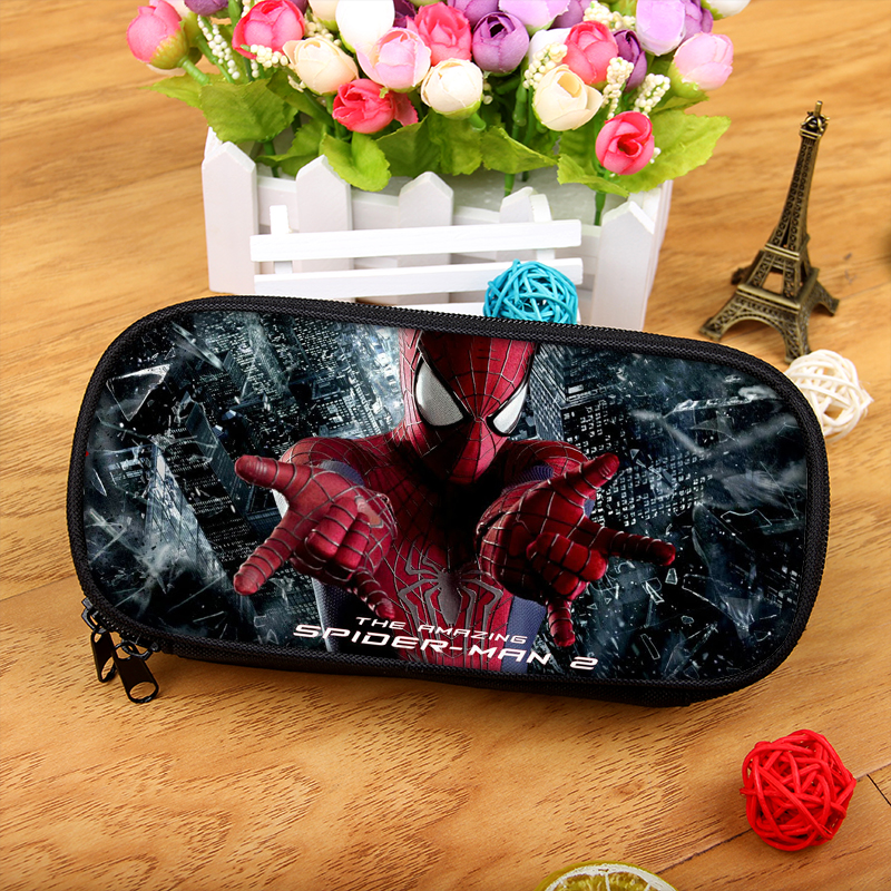 Superhero Spiderman Boy Girl Cartoon Pencil Case Bag School Pouches Children Pen Bag Kids Wallet тушь для ресниц artdeco art couture lash designer