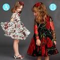 Spring Robe Enfant Mariage Autumn Brand Girl Dress Princess Floral Wedding Meisjes Jurken Designer Eurpean Style Tutu Kids Dress
