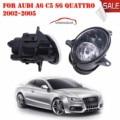 Автомобиль Свет Прозрачные Линзы Передний Правый + Левый Противотуманные фары Лампа С H7 Лампы Для Audi A6 C5 S6 Quattro 2002-2005 C/5