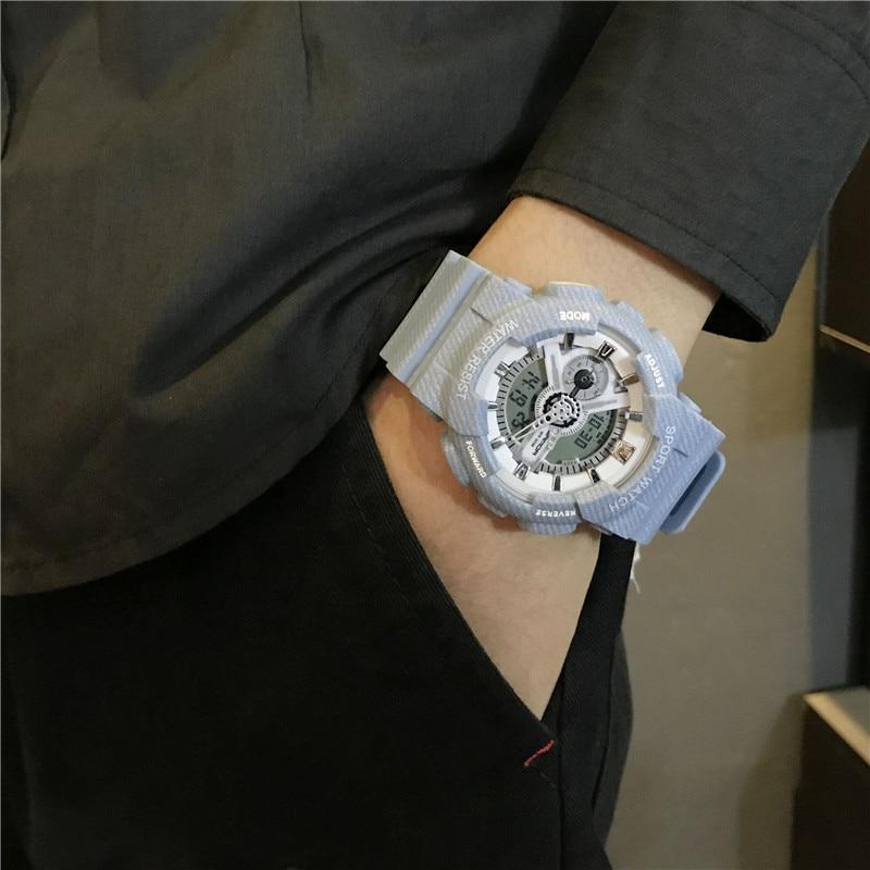 Couple Sport Military Watch Men Waterproof Dual Time Display Women Sport Wristwatch Digital Analog Quartz Watches Male G Shock