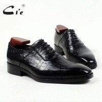Cie квадратный носок 100% натуральная телячья кожа тисненая крокодиловая кожа на заказ кожаная мужская обувь ручной работы мужская обувь Оксф
