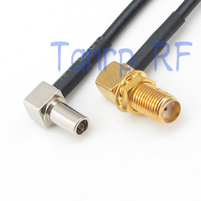 RP-SMA to RP-SMA both male right angle 90 degree RF coxial jumper cable RG405