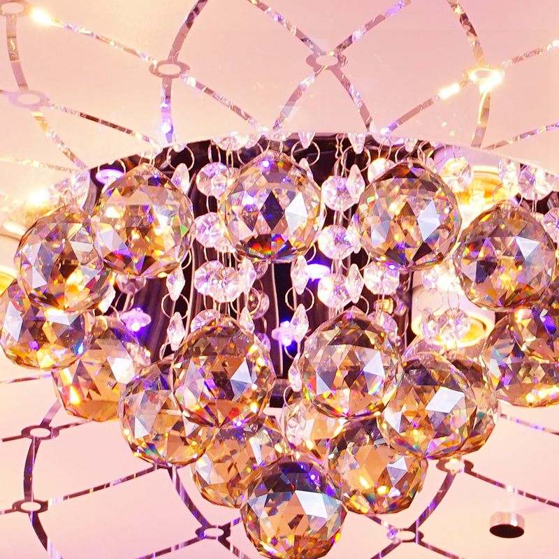 Round Crystal Light modern minimalist living room lights change color LED ceiling lighting fixtures bedroom cozy atmosphere on Aliexpress.com | ...