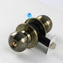 Wholesale- High Quality Bronze,Rounded Knob door lock, Room door lock,3 sets/lot,Free Shipping