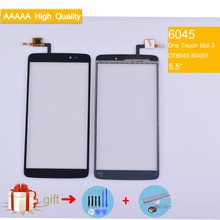For Alcatel One Touch Idol 3 6045 OT6045 6045Y Touch Screen Touch Panel Sensor Digitizer Front Outer Glass Touchscreen NO LCD lcd screen display touch panel digitizer with frame for alcatel one touch idol 3 6045 ot6045 black color free shipping