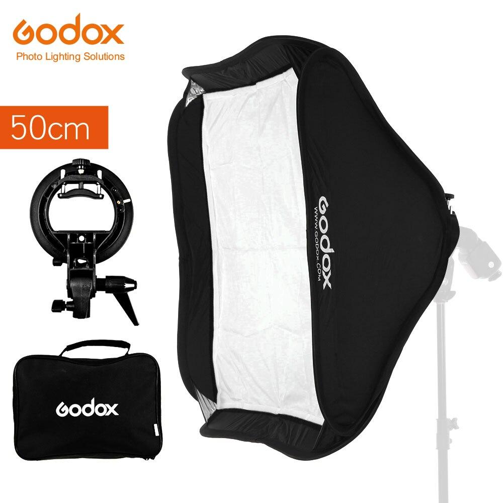 Godox 50 x 50cm 20 20 Softbox Diffuser with S type Bracket Bowens Holder for Studio