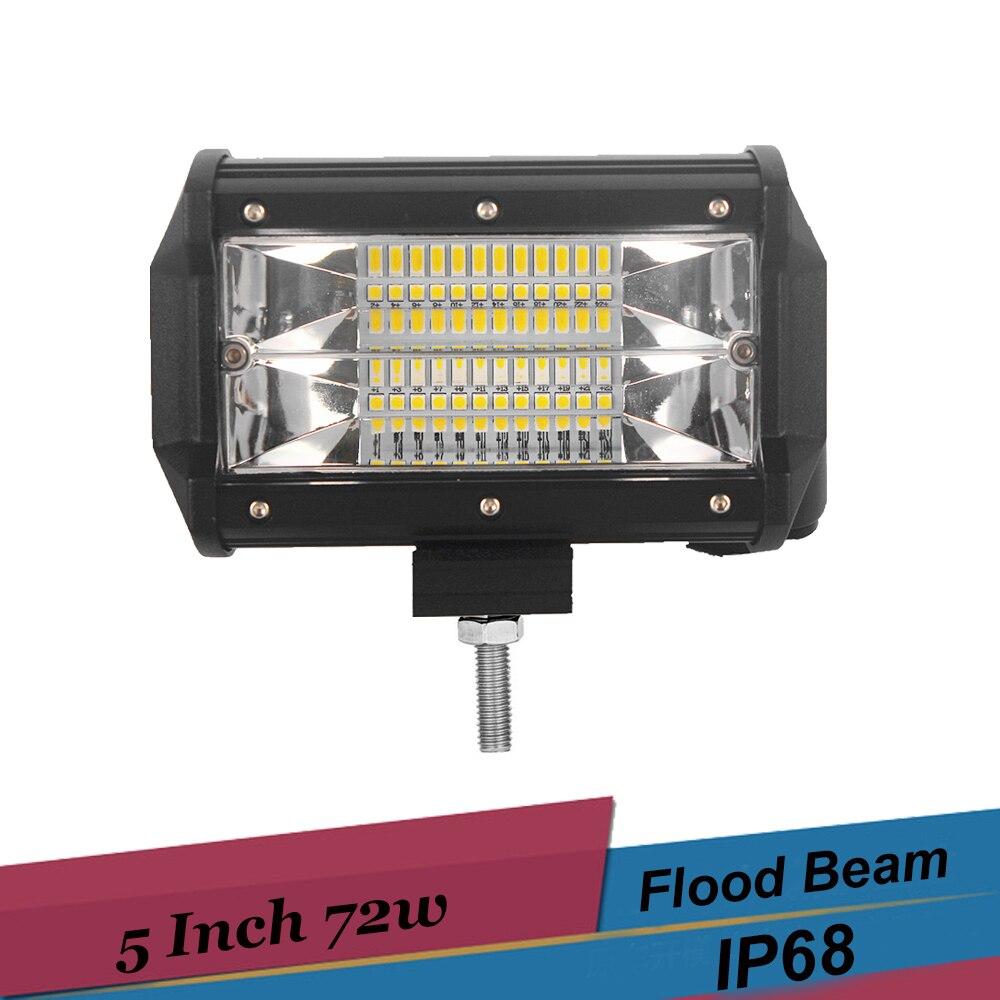 Off-road-led-lichtleiste 5 Zoll 72 watt FÜHRTE Arbeitslicht Flut ...