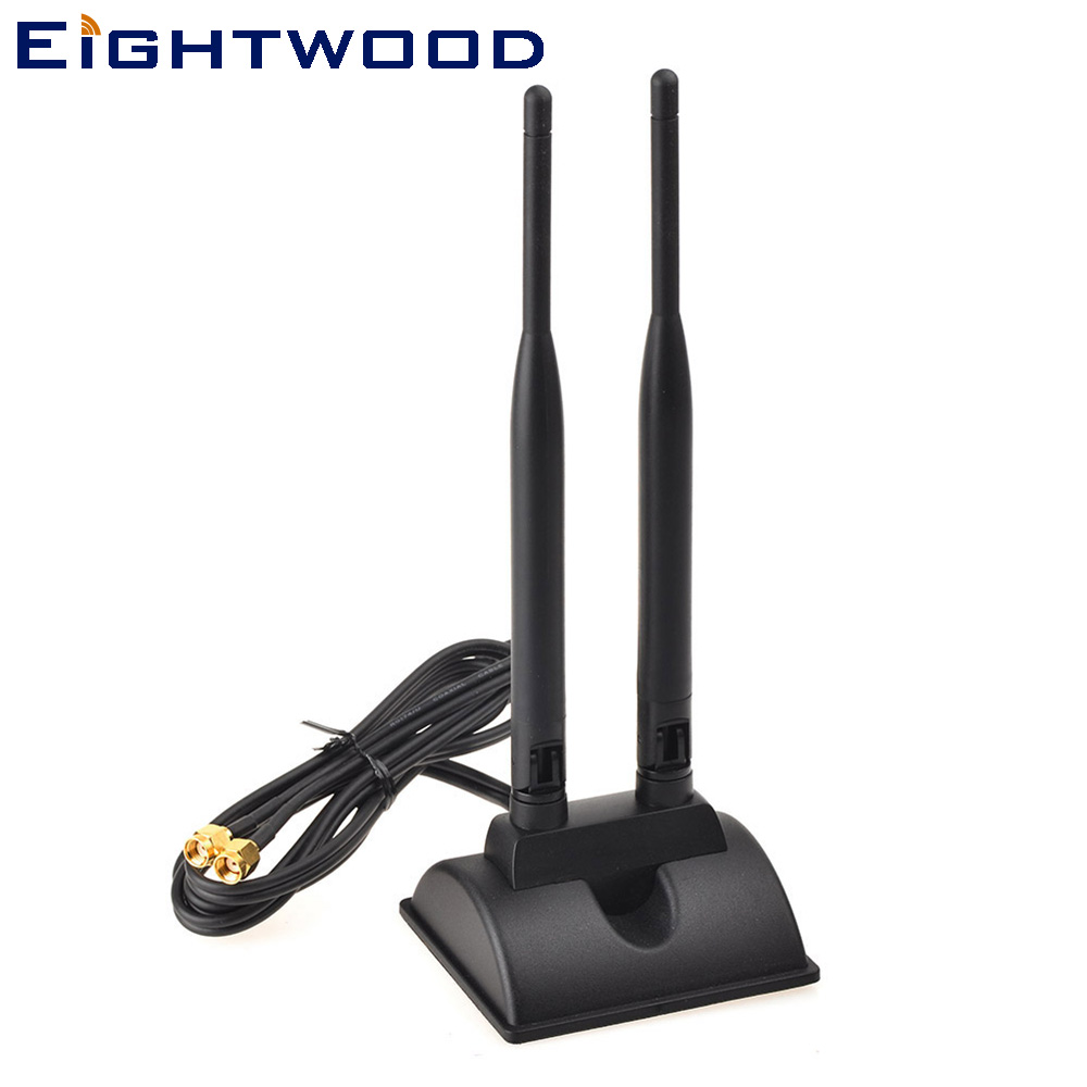 3 x 6dBi 2.4GHz 5GHz Dual Band WiFi RP-SMA Antenna for PCI-E Cards