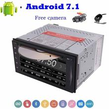 "2 Din 7"" Android 7.1 Car Stereo Touch Screen GPS Navigation DVD Player Support Bluetooth/WiFi/1080P Video Front&Backup Camera"
