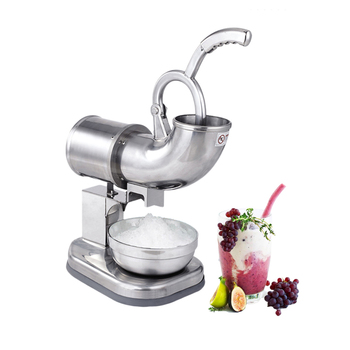 ITOP Ice Crusher Ice Shaver Machine Smoothie Maker Electric Snow Cone Maker Stainless Steel Shaved Ice Crusher 180kgs/h