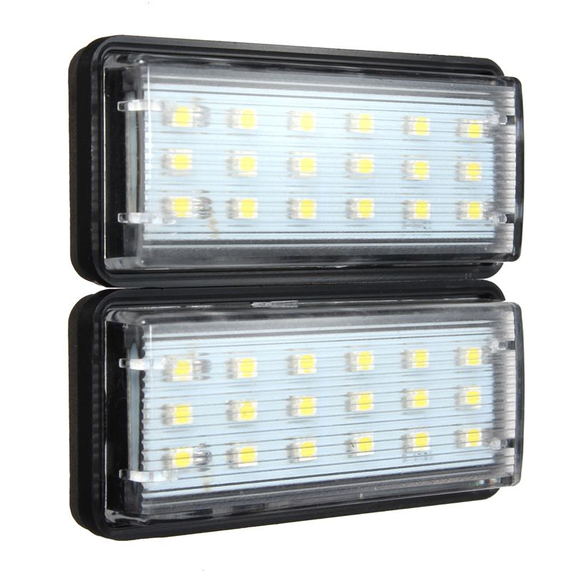 1 Pair Error Free LED SMD3528 License Plate Light Number Plate Lamp For Toyota/Land/Cruiser/Lexus/GX/LX470 2pcs error free led smd license plate light for toyota land cruiser lexus gx lx470 new dropping shipping
