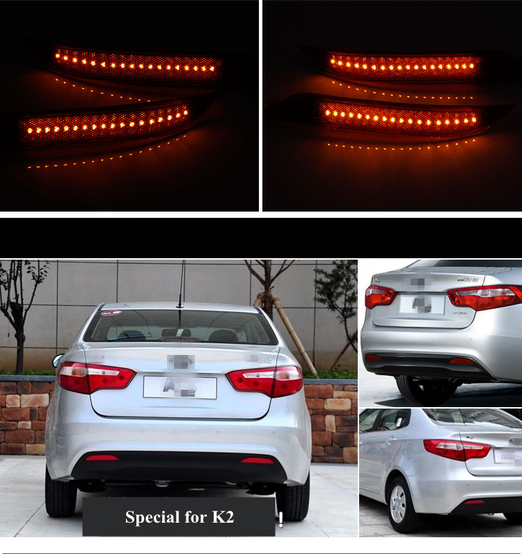 OKEEN car-styling Auto LED Tail Lihgt Car Rear Bumper Reflector Lamp Automotive Brake Turn Signal Light for KIA K2 Hatchback kicute new 120 slots large capacity oxford canvas 4 layers school pencil case pencil bag art marker pen holder school supplies