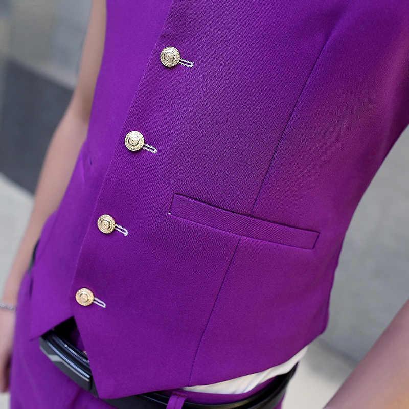 4b4c28ee7f ... 2017 New Male Wedding Suit Vest V-neck Slim Fit Fashion Mens Party Vest  Casual ...