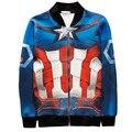 New Fashion Winter Casual Sweatshirts Printed Superman Captain America 3d Jacket men/women Casual  Basicswear Baseball Coats