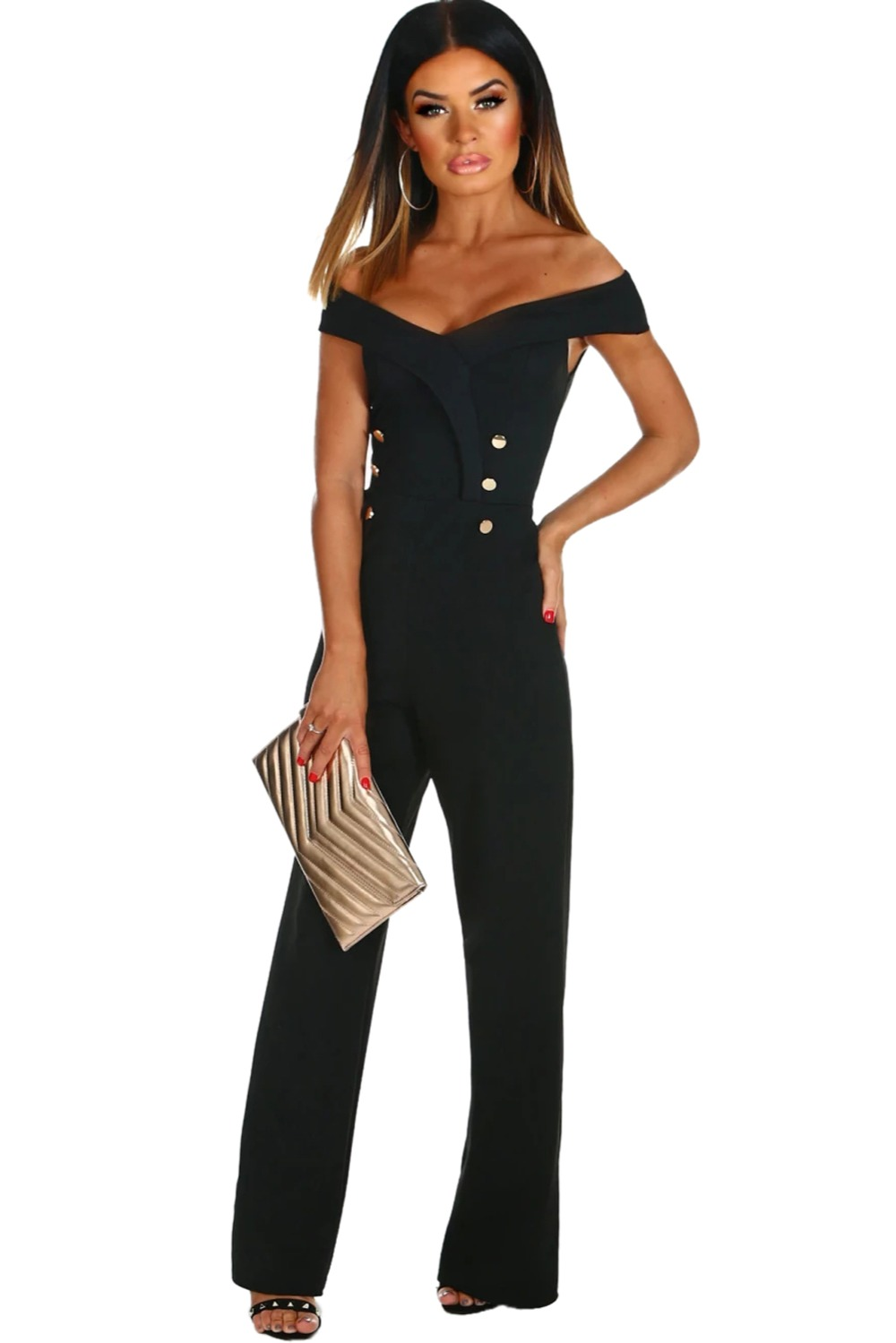 09b5f87778b 2019 Only You Jumpsuit 2018 New Sexy Party Fashion Black Off The ...
