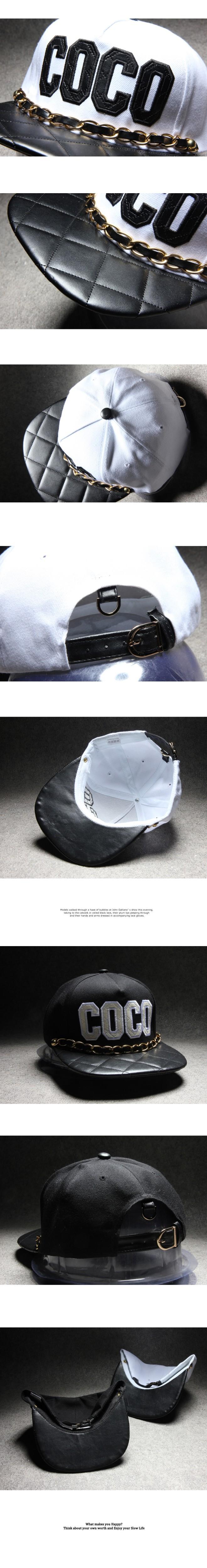 5eb226f8fca 2016 New Snapback Chipping Irregular Leather Couple Black White ...