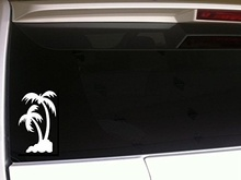 "Car Styling Palm Tree 5"" Vinyl Sticker Ocean Tropical Vacation Boat Sand Coconut Florida Hawaii California Beach Life Laptop"