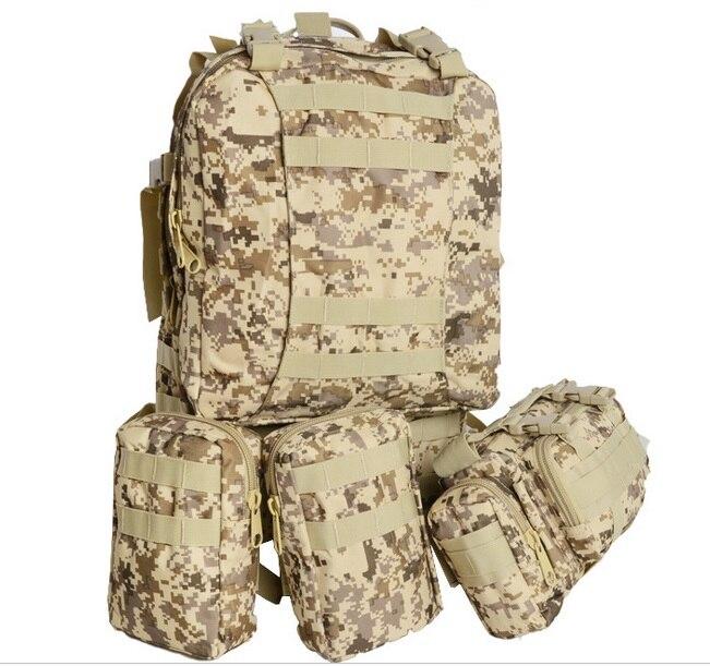4pcs/lot 55 L Men Military Survival backpack military 600D Oxford Travel Bag Camouflage backpack wholesale LB003 survival bracelet camouflage