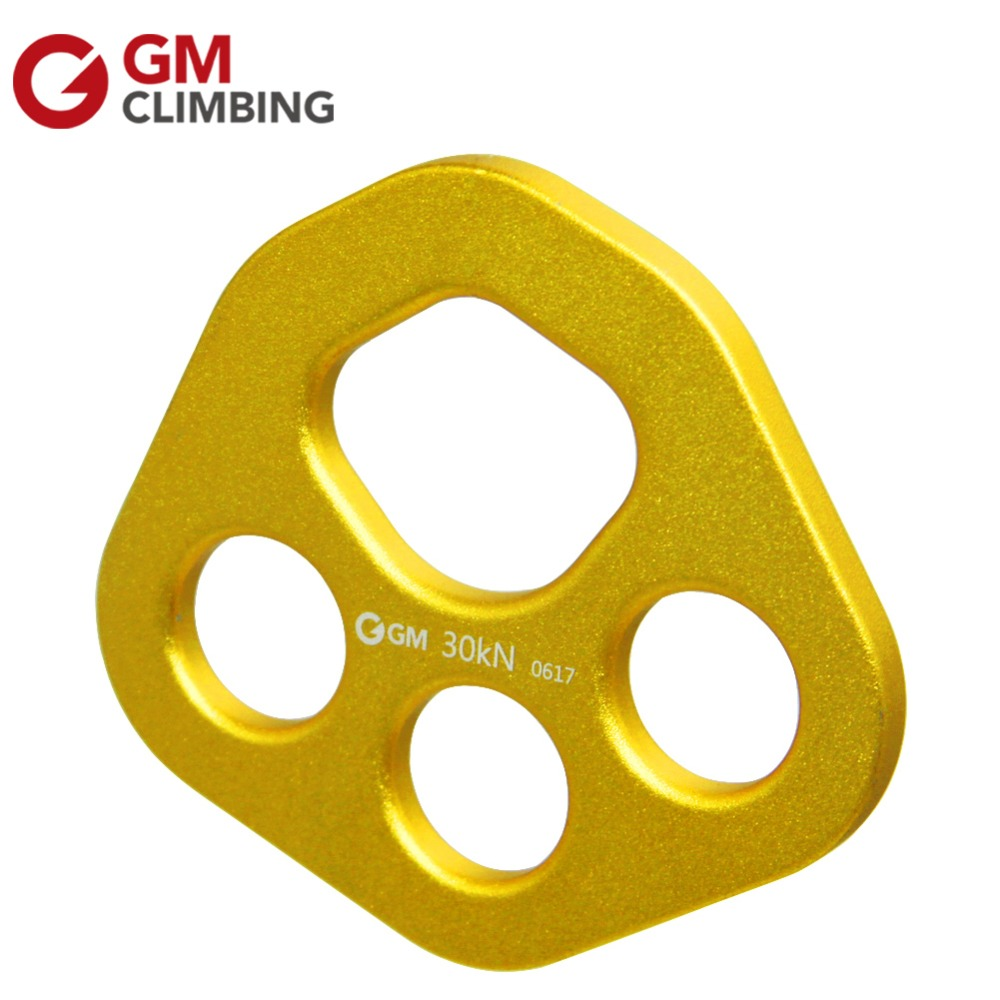30KN / 6700lbs Aluminum Alloy Bear Paw Shape Rigging Plate Multi Anchor Device For Rock Climbing Caves Rescue Mountaineering