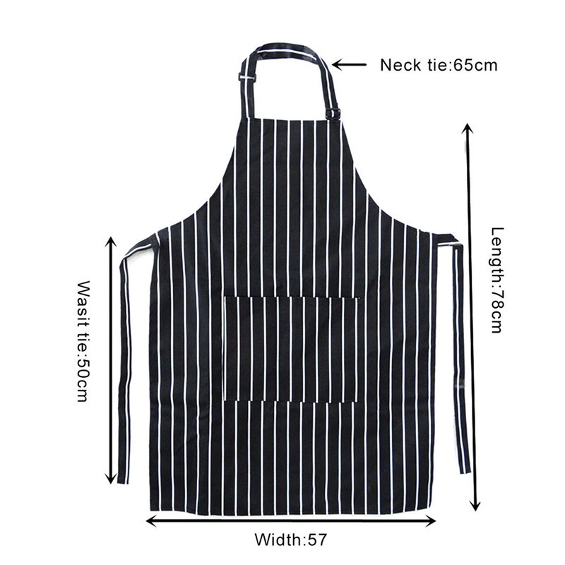 3c5a036f4 Kitchen Unisex Aprons Adjustable Black Stripe Bib Apron With 2 Pockets Chef  Kitchen Cook Tool For Man Woman -in Aprons from Home & Garden on  Aliexpress.com ...