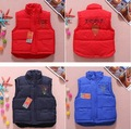 New Retail top quality Brand baby boy girls vest kids Letter vest fashion children coat 3 colors you can choose