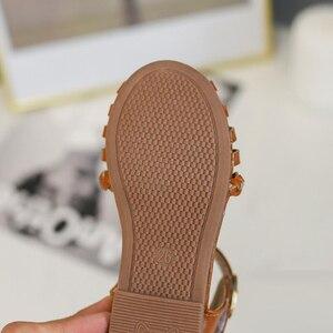 Image 5 - קיץ ילדי נעלי בנות סנדלי פעוט חוף Sandalias Niña Infantil אופנה שחור חלול ילדי סנדלי תינוק נסיכת נעליים