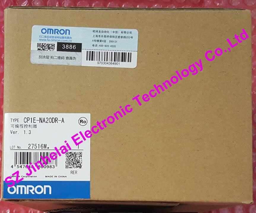 CP1E-NA20DR-A Authentic original OMRON PLC CONTROLLER , PLC MODULE authentic original cp1e n40s1dt d omron configuration rs232 rs485