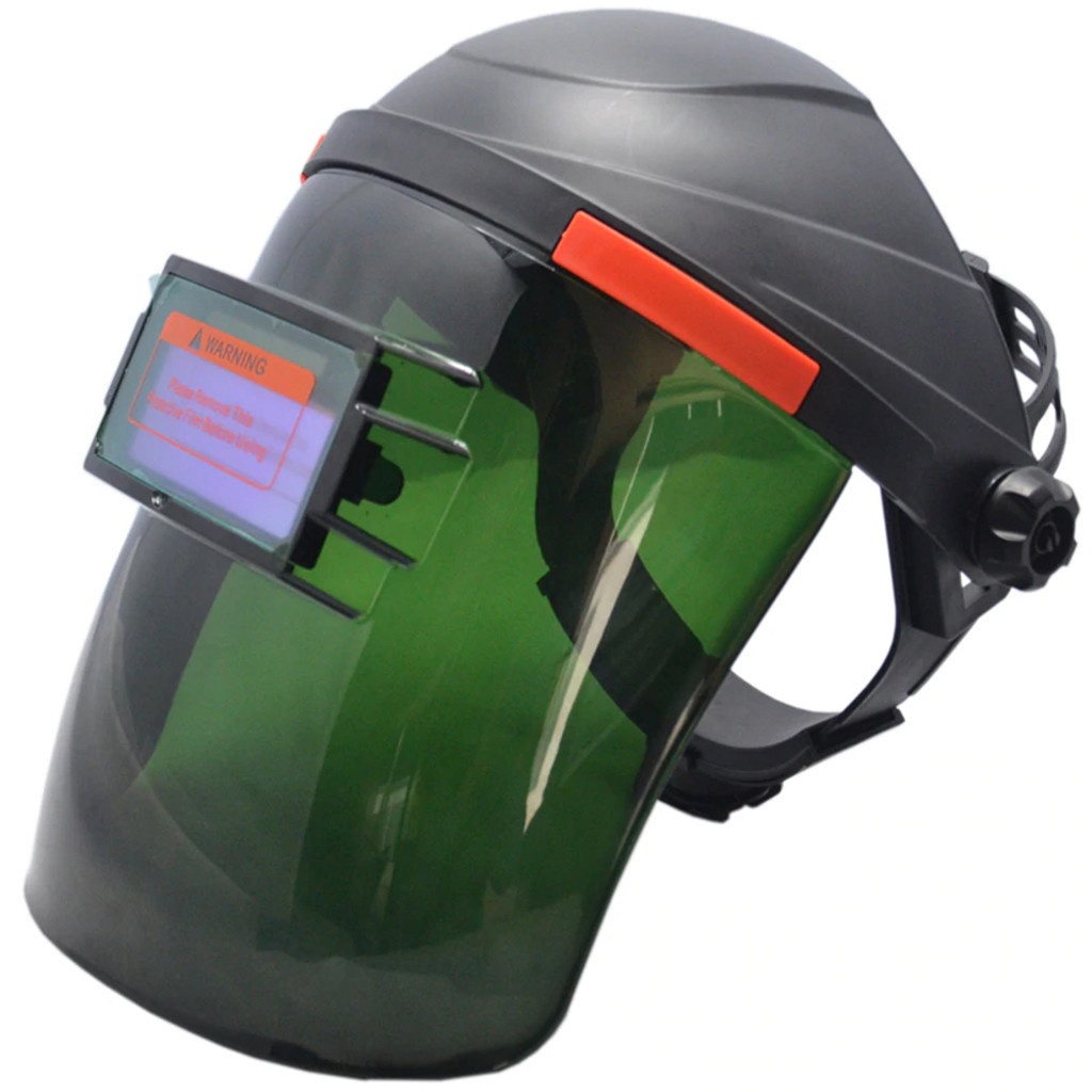 Black Solar Powered Auto-Darkening Welding Helmet Grinding TIG Welder Mask ROR  Fully Automatic Dimming Flip Welding Cap