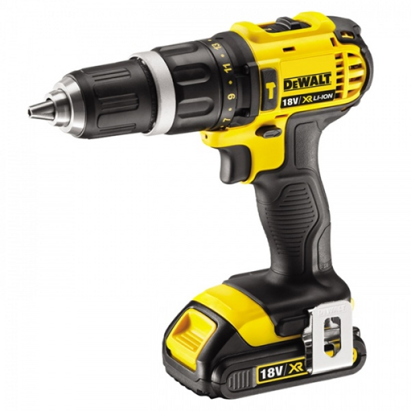 Drill electric screwdriver rechargeable impact DeWalt DCD785C2 (two 18В Li-ion battery, 2 speed, 60 Nm, case) цена