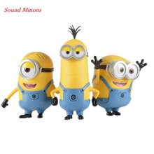 DESPICABLE ME Sound MINION Model Toys 4 Different Voice Movie Soundtrack Gift Dolls Toys Action & Toy Figures(China)