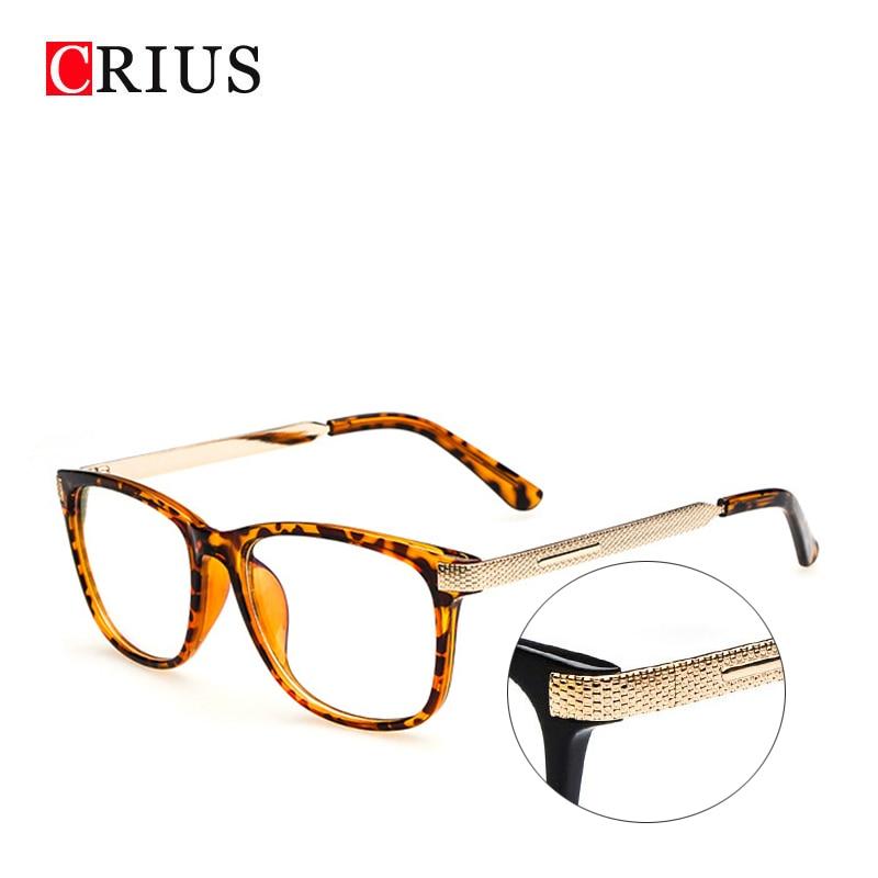 f8456c596 H novo das mulheres vidros ópticos quadro óculos Quadrados óculos de armação  limpar óculos ligas Metálicas de alta qualidade Do Vintage