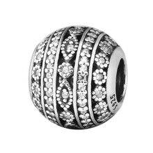 Granos para La Fabricación de Joyas Brillantes Formas Pandulaso Encanto de La Mujer Apta DIY pulsera 100% 925 joyería de plata esterlina