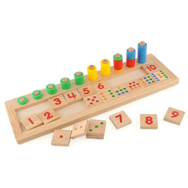 Новый Монтессори Математика Математика Количество Древесины, Доска Дошкольного Развития Образования Игрушки Ребенок Малыш Подарок