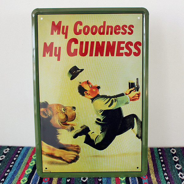 My Godness My Guinness Lion Beer Metal signs Art wall decor House ...