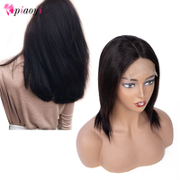Piaoyi Lace Front Human Hair Wigs Human Hair Lace Frontal Wig Brazilian Hair 4*4 Wig For Black Women