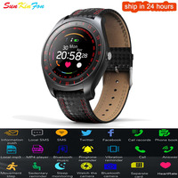 Bluetooth Smart Watch Phone Pedometer Heart Rate Monitor SIM Card Sport Smartwatch for Huawei Honor 9i Play 10 V10 9 6A P8 Lite