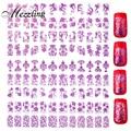 Nuevo 3D Nail Art Stickers, 1 Púrpura hoja Adhesiva DIY Diseño de Uñas Adhesivos Metálicos, Manicura de Belleza de Uñas