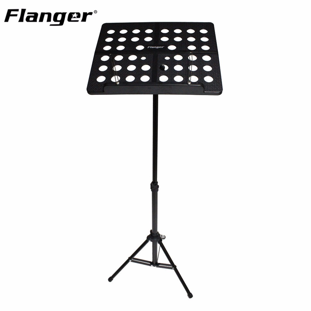 Flanger FL-05R Folding Music Tripod Stand Holder Sheet Aluminum Alloy+ABS With Soft Case + Carrying Bag Musical Instruments colourful sheet folding music stand metal tripod stand holder with soft case with carrying bag free shipping wholesales
