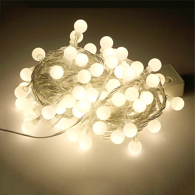 BEIAIDI Novelty Connectable Festoon Globe Ball LED Fairy String Light 20M 200LED Outdoor Wedding Holiday Christmas String Light