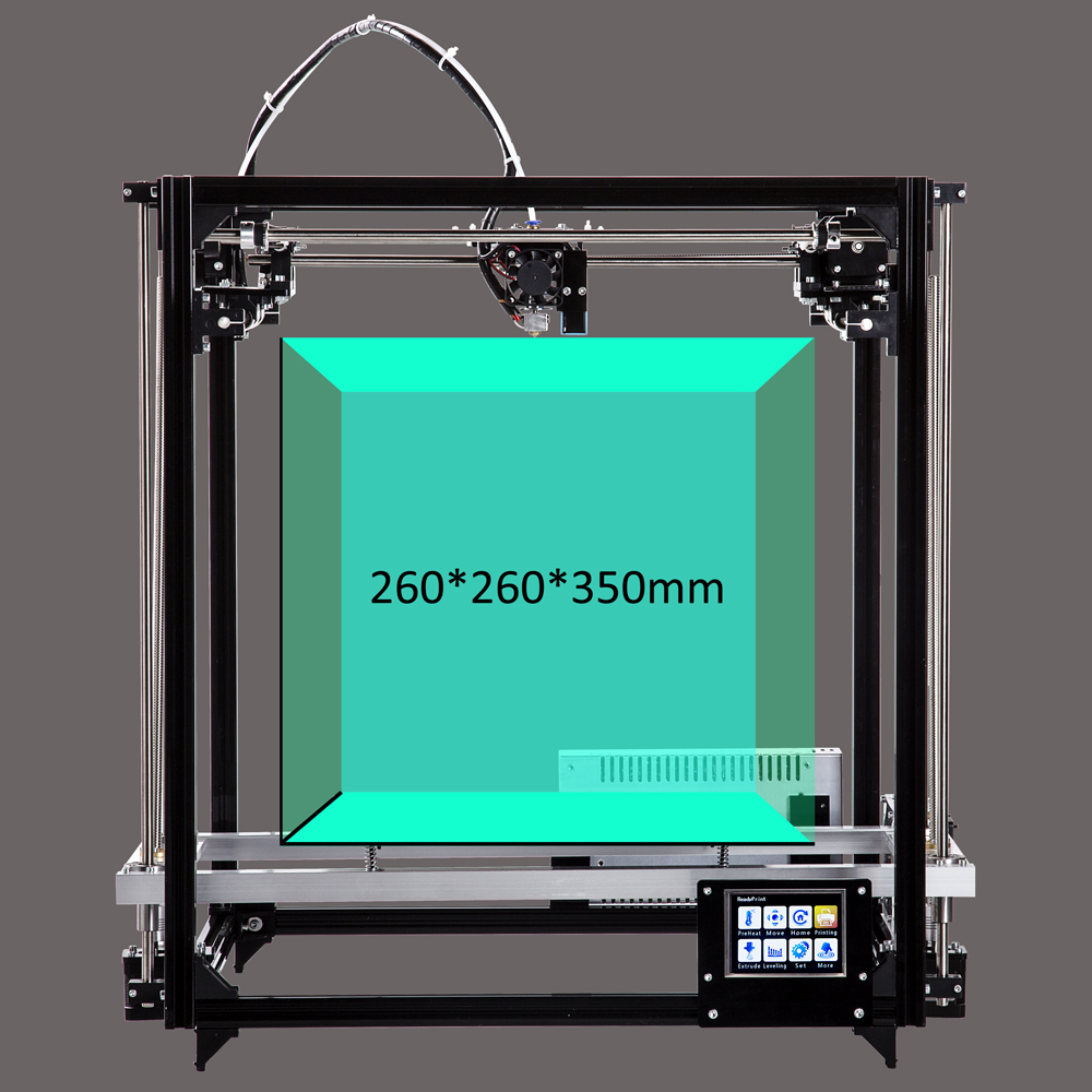 2018 Newest Large Printing Area 260*260*350mm Auto leveling Aluminium Frame 3D Printer kit printer 3d with Heated Bed цены