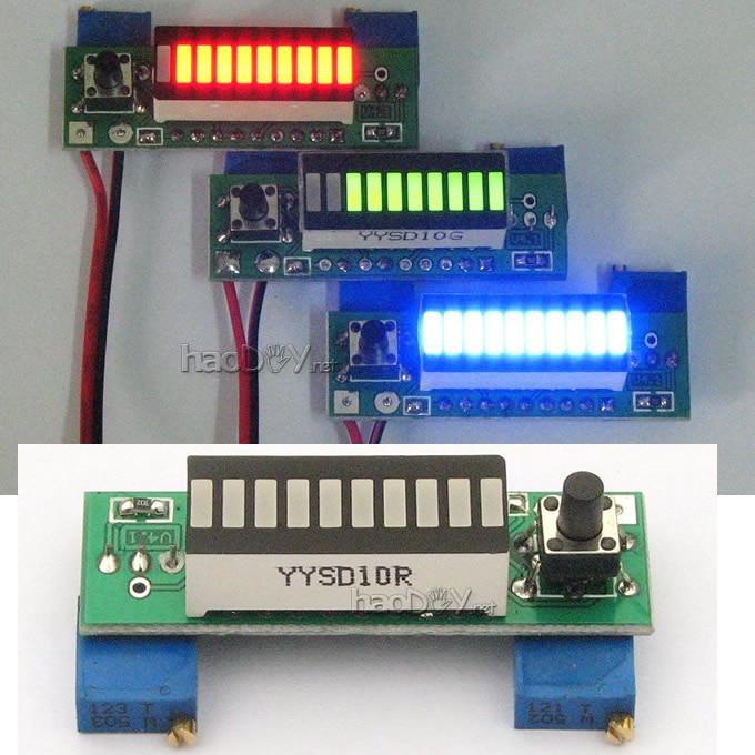Pcm For Less >> Diy Kits LM3914 10 Segment 5V 12V Battery Capacity Power ...