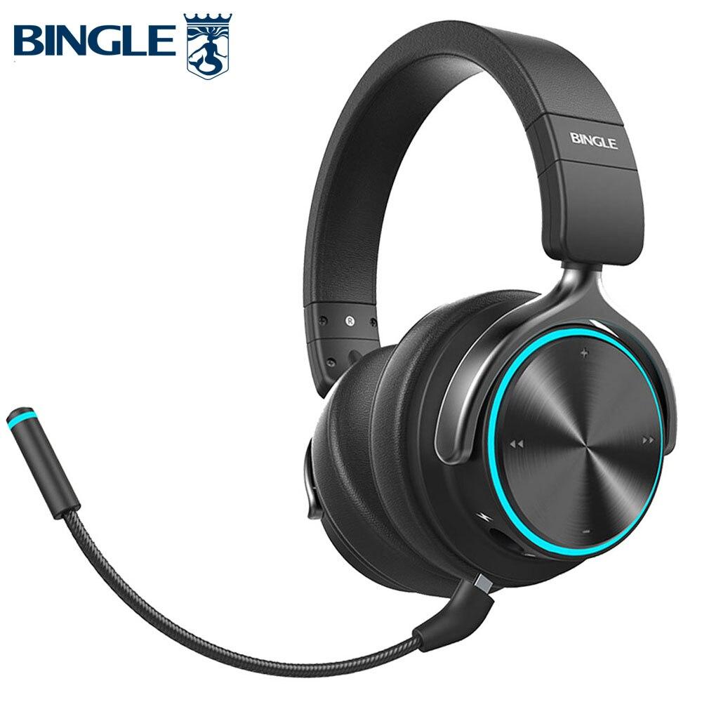 Inteligente BT Microfone com Cancelamento de Ruído Fones de Ouvido Estéreo Bluetooth fone de Ouvido Sem Fio Para Jogos, PS4, Xbox, TV, PC, Estúdio, Áudio, Gamer, Celular