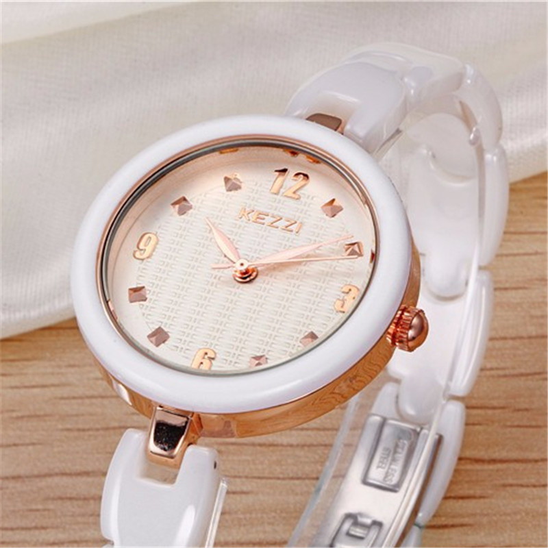 New Arrival K1234 100% Ceramic BrandKEZZI Ladies Wristwatch Crystal Stone Ceramic Watch Women free shipping new arrival 100